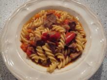 Paprikagulasch mit Spirelli - Rezept