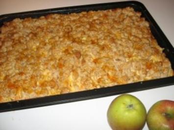 Apfel - Blechkuchen - Rezept