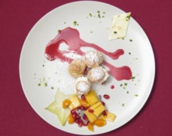 Persischer Windbeutel mit exotischen Früchten an Grenadine - Rezept