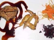 Rinderfilet Strindberg auf Sauce Noir an Kartoffeln und Gemüse - Rezept