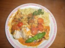 Hähnchenbrust gefüllt mit Tomatenpesto - Rezept