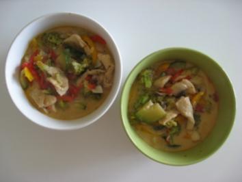 Rotes Hühner-Thaicurry - Rezept