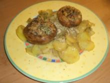 Gefüllte Champignon trifft Kräuter Kartoffel - Rezept