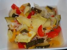 Süß-sauer eingelegte Zucchini - Rezept