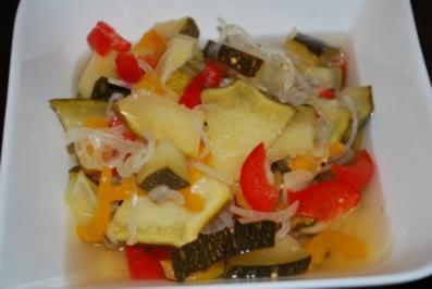Rezept: Süß-sauer eingelegte Zucchini