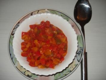 Paprika – Gemüse – Letscho - Rezept