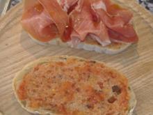 Pamboli ( mallorquinisch belegte Brotscheiben) - Rezept