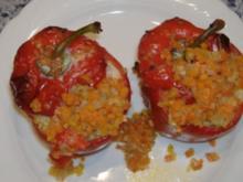 Gefüllte Paprika mit Reis und Kalbfleisch - Rezept