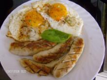 Prutzelweißwurst und zweimal Huhn - Rezept