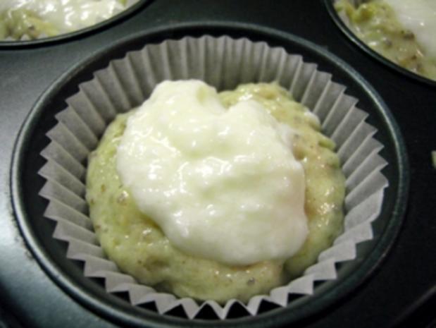Muffins: Apfel-Nuss mit Kokos-Creme-Füllung - Rezept