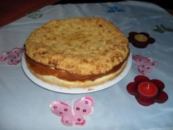 Streuselkuchen mit Quarkfüllung - Rezept