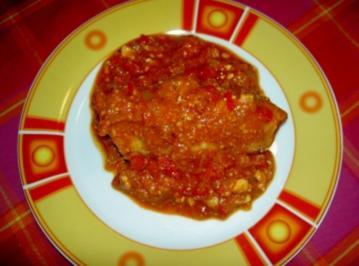 Putenrouladen gefüllt mit Feta und gegrilltem Paprika - Rezept