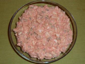Seelachsschnitzel - Eier - Salat - Rezept