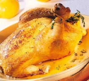 Geflügel: Brathähnchen mit Zitronenfüllung - Rezept - Bild Nr. 2