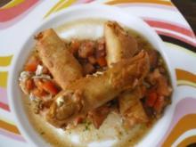 Sigara Böregi auf marinierten Tomaten - Rezept