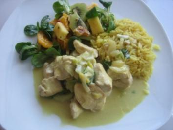 Curry- Kokos- Hähnchen - Rezept