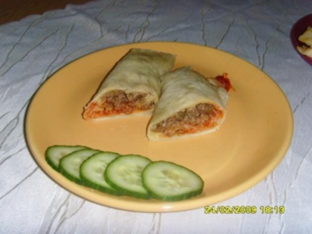 Burritos mit Hackfleischfüllung - Rezept