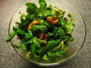 Lauwarmer Feldsalat mit Ca - Rezept