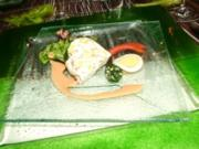 Gemüse-Törtchen auf Safransauce - Rezept