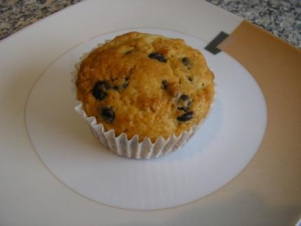 Schoko-Mandel-Muffins mit Kirsche - Rezept