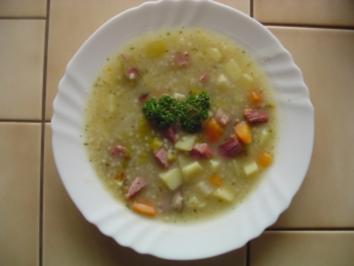 Graupeneintopf mit Kasselerfleisch - Rezept