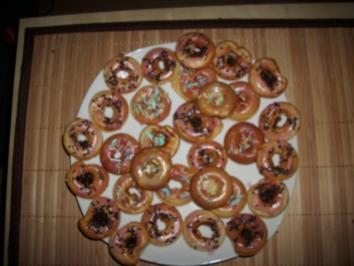 Bunte Mini Donuts - Rezept