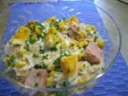 Eiersalat mit Thunfisch und Mais - Rezept