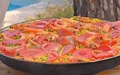 Rezept: Paella für 8
