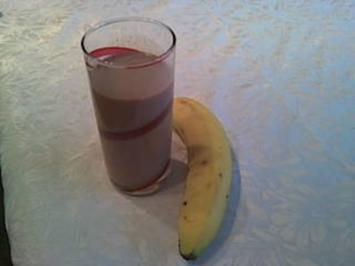 Nutella-Milch mit Bananen - Rezept