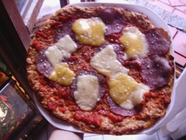 Low-Carb Pizza - Rezept