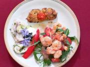 Carpaccio vom Schwertfisch mit Tigergarnelen und Sardinen - Rezept