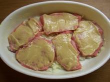 Schweineschnitzel in Senfkruste - Rezept
