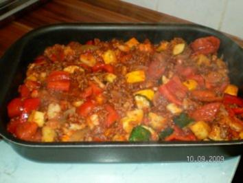 Zuchini-Tomaten-Gratin - Rezept