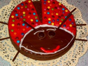 Rezept: Lustige Marienkäfer Torte