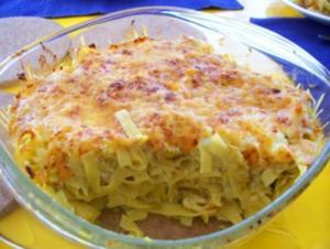 GRATIN: Reste-Tortilla + Nudel-Gratin - Rezept