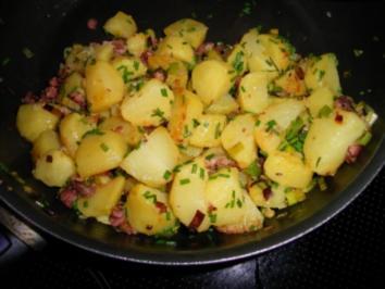 Rezept: Bratkartoffeln mit Lauch und Speck