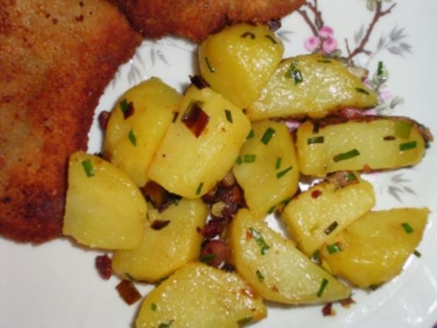 Bratkartoffeln mit Lauch und Speck - Rezept