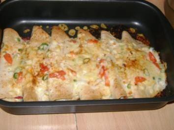 Fiajitas im Ofen überbacken - Rezept