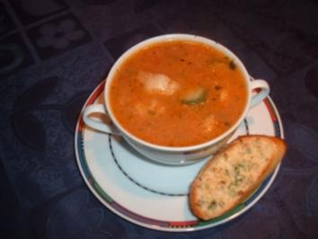 Rezept: Fischsuppe nach toscanischer Art mit geröstetem Brot