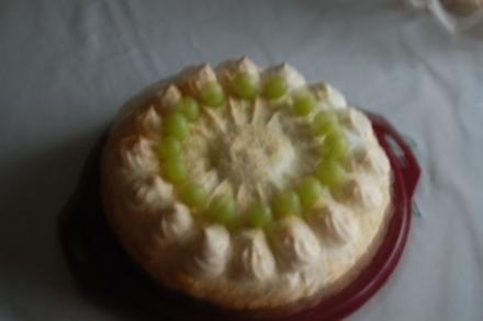 Mandel-Baiser-Torte - Rezept