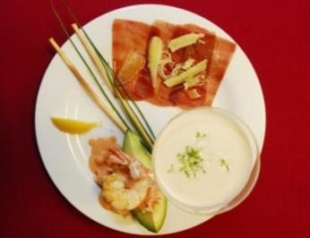 Flusskrebse mit Avocado, Carpaccio und Vichyssois (Christian Kohlunds) - Rezept