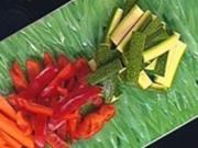 Gemüsesticks mit Tzatziki - Rezept