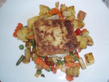 Polardorschfilet auf Kartoffelgemüse - Rezept