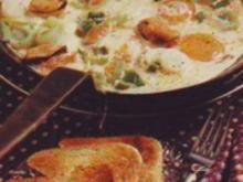 Eierpfanne mit Muscheln - Rezept