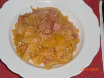 Weißkraut-Reispfanne - Rezept
