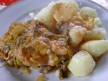 Geschmorte Lauch-Schnitzel - Rezept
