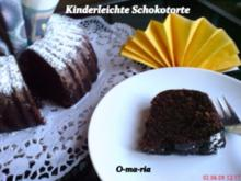 Kuchen  Kinderleichte Schokotorte - Rezept