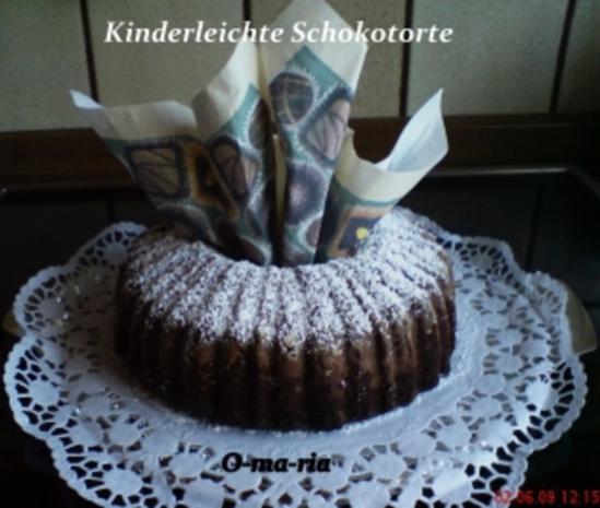 Kuchen  Kinderleichte Schokotorte - Rezept - Bild Nr. 2