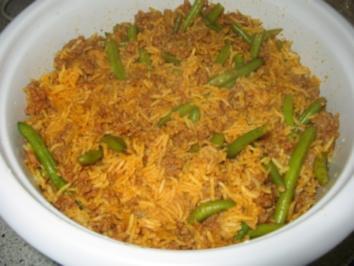 Lobia Polo - persisch - Rezept