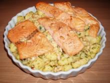 Kräuter-Gnocchi mit Lachs - Rezept